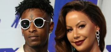 Amber Rose attended the VMAs with a wig & her boyfriend 21 Savage