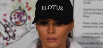 Melania Trump wore stilettos for her trip to Texas to meet flood survivors