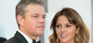 Matt Damon & Luciana wear his-and-hers Versace in Venice: lovely or boring?
