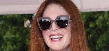 Julianne Moore in a feathered black dress in Venice: tragic or interesting?