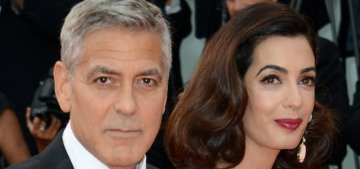 Amal Clooney wears lilac Versace at Venice 'Suburbicon' premiere: lovely or meh?