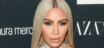 Kim Kardashian in Versace at the Bazaar 'Icons' event: struggling or fabulous?