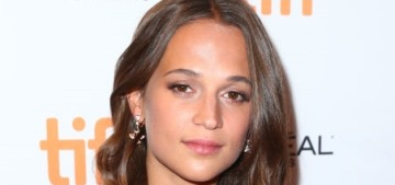Alicia Vikander in Louis Vuitton at TIFF 'Euphoria' premiere: lovely or twee?
