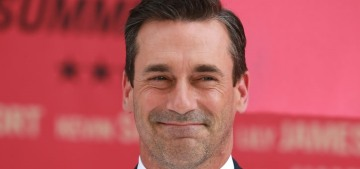 Jon Hamm told a story about Donald Trump trying to out-alpha-man him