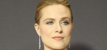 Evan Rachel Wood in a Moschino tuxedo at the Emmys: impressive & perfect?