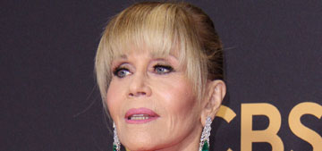 Jane Fonda wore Brandon Maxwell to the Emmys and her ponytail stole the show