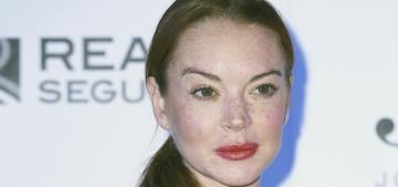 Lindsay Lohan looked somewhat pulled-together at Madrid Fashion Week