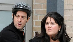 Monica Lewinsky hangs out with Alan Cumming