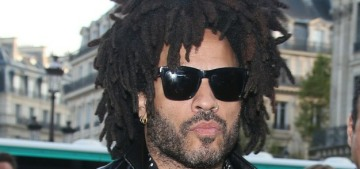 Lenny Kravitz & some French dude got into a heated beef over some chocolate