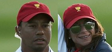 Tiger Woods looked bored with his new girlfriend at President's cup event