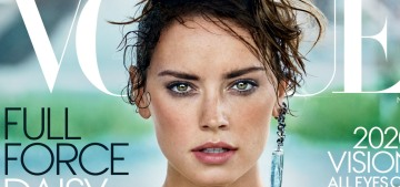 Daisy Ridley looks fierce as hell on the cover of Vogue, but the interview's boring