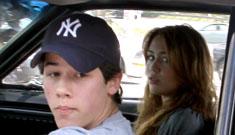 Justin Gaston gave Miley Cyrus a Bible pre-split; Miley hangs with Nick Jonas