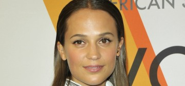Alicia Vikander wore her new wedding ring to a Louis Vuitton event in NYC