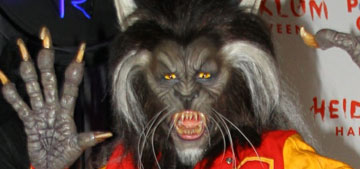 Heidi Klum went as the werewolf from MJ's 'Thriller' video for her annual party