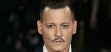 Johnny Depp came out of hiding for the 'Murder on the Orient Express' premiere