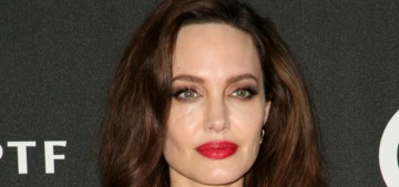 Angelina Jolie wore a Jenny Packham robe at the Hollywood Film Awards