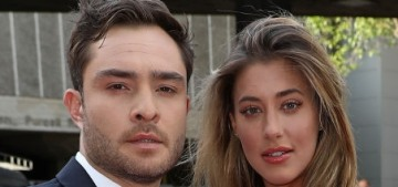 Odd moment to announce this, but Ed Westwick will likely get engaged soon