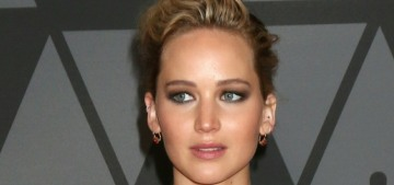 Jennifer Lawrence in McQueen at the Governors Awards: overkill or amazing?
