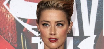Amber Heard in Versace at the LA 'Justice League' premiere: boring or lovely?