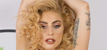 Lady Gaga's fiance got a big tattoo of her face on his arm
