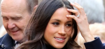 Meghan Markle wears a Mackage coat for her first royal event in Nottingham