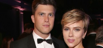 """Scarlett Johansson & Colin Jost are posing-for-photos-together official"" links"