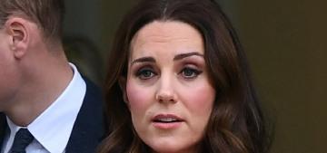 Duchess Kate steps out in a LK Bennett coat & a keen, Christmasy Goat dress