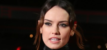 Daisy Ridley wore a Calvin Klein trash bag to the UK 'Last Jedi' premiere