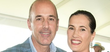 Matt Lauer's wife is lawyering up to divorce him & get all of his money.  Good.