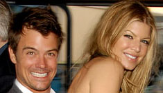 Fergie throws out tennis ball Josh Duhamel got from Maria Sharapova
