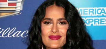 Salma Hayek in Gucci at the Palm Springs film festival: gorgeous in green?