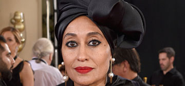 Tracee Ellis Ross in Marc Jacobs with a matching turban is everything at the Globes