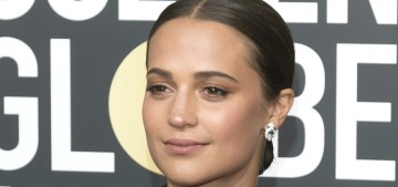 Alicia Vikander, Michelle Williams & Emma Stone wore Louis Vuitton at the Globes