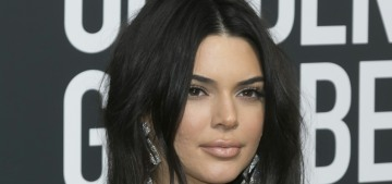 Wait, why did Kendall Jenner and her crazy new lips attend the Golden Globes?