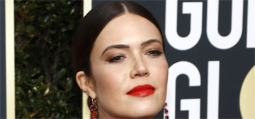 Mandy Moore in Rosie Assoulin at the Golden Globes: nice pop of color?