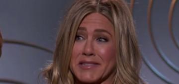 Jennifer Aniston didn't walk the Golden Globes red carpet, interesting
