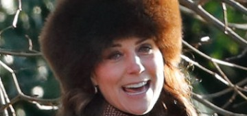 Duchess Kate repeated a Moloh coat for church with the Queen… and Pippa!