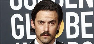 How did Milo Ventimiglia fall into a pool at the HBO Golden Globes after party?