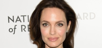 Angelina Jolie wore black Valentino to the National Board of Review Awards