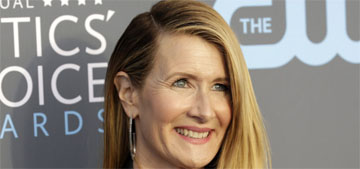Laura Dern in a Balmain pantsuit at the Critics Choice Awards: comfortable & classic?