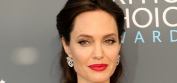 Angelina Jolie in Ralph & Russo at the Critics Choice Awards: feathered nonsense?