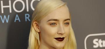 Saoirse Ronan in Michael Kors at the Critics Choice Awards: goth girl realness?