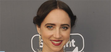 Zoe Kazan in Valentino at the Critics Choice Awards: bizarre or cute?