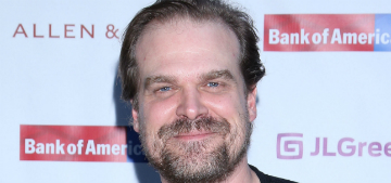 David Harbour makes good on high school photo promise