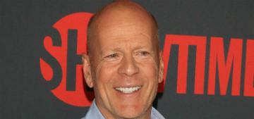 Bruce Willis lets his five year-old daughter do his nails