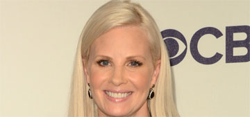 Monica Potter posted bump pic, waited until outlets reported her pregnant, then clarified
