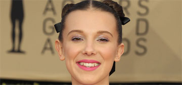 Millie Bobby Brown in Calvin Klein with converse at the SAG Awards: cute and kid-like?
