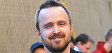Aaron Paul on his wife's upcoming labor: Our doula told me to never say 'relax' or 'breathe'