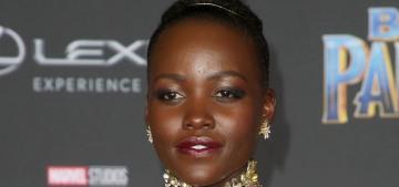 Lupita Nyong'o in custom Versace at the 'Black Panther' premiere: warrior princess?