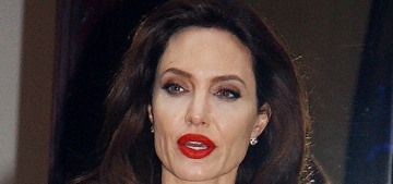 Angelina Jolie was swarmed by fans everywhere she went in Paris on Tuesday